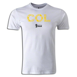 2014 FIFA World Cup Brazil Colombia Supersoft T-Shirt White L