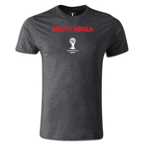 2014 FIFA World Cup Brazil South Korea Supersoft T-Shirt Dk Grey L