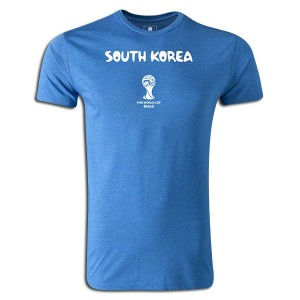 2014 FIFA World Cup Brazil South Korea Supersoft T-Shirt Royal L