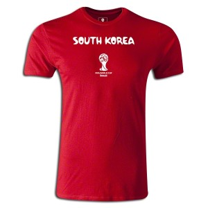 2014 FIFA World Cup Brazil South Korea Supersoft T-Shirt Red L