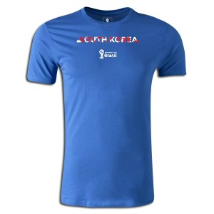 2014 FIFA World Cup Brazil South Korea Supersoft T-Shirt Royal 3XL