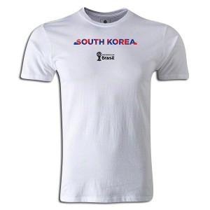 2014 FIFA World Cup Brazil South Korea Supersoft T-Shirt White L