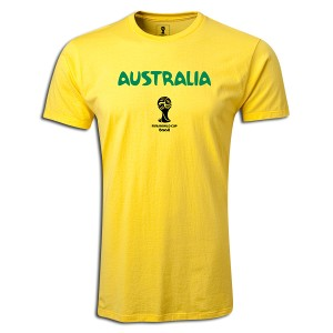 2014 FIFA World Cup Brazil Australia Supersoft T-Shirt Yellow L