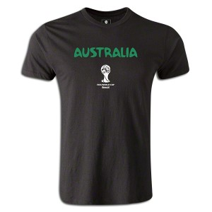2014 FIFA World Cup Brazil Australia Supersoft T-Shirt Black L
