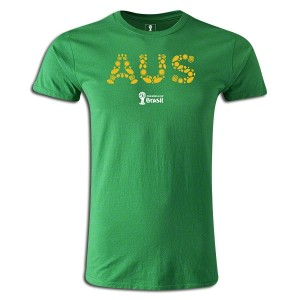 2014 FIFA World Cup Brazil Australia Supersoft T-Shirt Green L