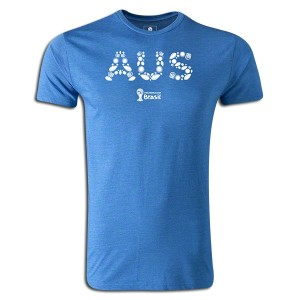 2014 FIFA World Cup Brazil Australia Supersoft T-Shirt Royal L