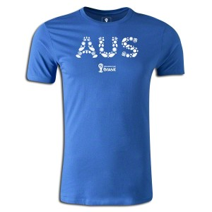 2014 FIFA World Cup Brazil Australia Supersoft T-Shirt Royal 3XL
