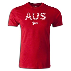 2014 FIFA World Cup Brazil Australia Supersoft T-Shirt Red L