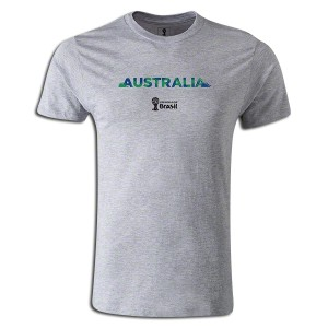 2014 FIFA World Cup Brazil Australia Supersoft T-Shirt Grey L
