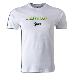 2014 FIFA World Cup Brazil Australia Supersoft T-Shirt White L
