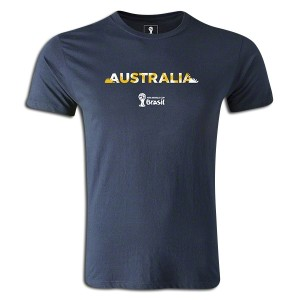 2014 FIFA World Cup Brazil Australia Supersoft T-Shirt Navy L
