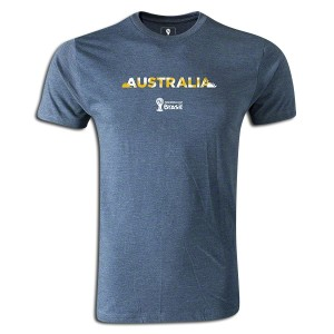 2014 FIFA World Cup Brazil Australia Supersoft T-Shirt Blue L