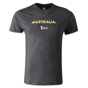2014 FIFA World Cup Brazil Australia Supersoft T-Shirt Dk Grey L