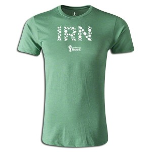 2014 FIFA World Cup Brazil Iran Supersoft T-Shirt Green L