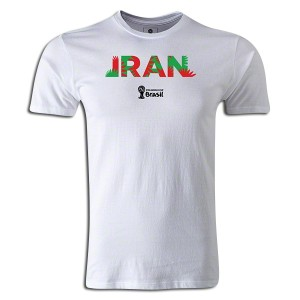 2014 FIFA World Cup Brazil Iran Supersoft T-Shirt White L