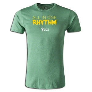 2014 FIFA World Cup Brazil All In One Rhythm Portuguese Supersoft T-Shirt Green L