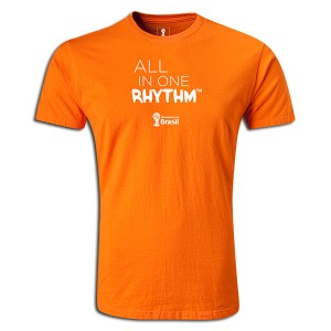 2014 FIFA World Cup Brazil All In One Rhythm Portuguese Supersoft T-Shirt Orange L
