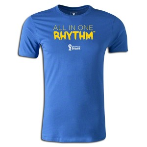 2014 FIFA World Cup Brazil All In One Rhythm Portuguese Supersoft T-Shirt Royal 3XL