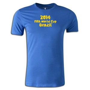 2014 FIFA World Cup Brazil Supersoft T-Shirt Royal 3XL
