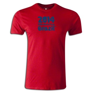 2014 FIFA World Cup Brazil Supersoft T-Shirt Red L