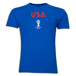 2014 FIFA World Cup Brazil USA Supersoft T-Shirt Round of 16