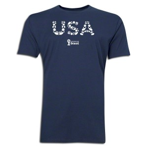 2014 FIFA World Cup Brazil USA Supersoft T-Shirt Navy L