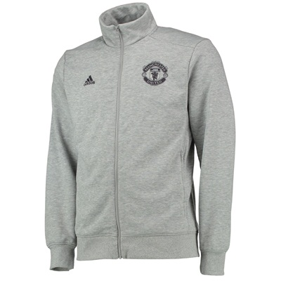 Manchester United Core Track Top Grey