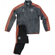 Manchester United UCL Training Presentation Suit - Kids Black