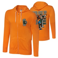 "John Cena ""15X"" Men's Full-Zip Hoodie Sweatshirt"
