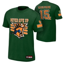 "John Cena ""15X"" Green Youth Authentic T-Shirt"