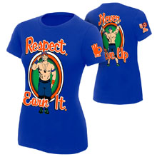 "John Cena ""Respect. Earn It."" Women's Authentic T-Shirt"