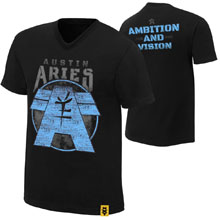 "Austin Aries ""Ambition and Vision"" Authentic T-Shirt"