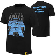 "Austin Aries ""Ambition and Vision"" Youth Authentic T-Shirt"