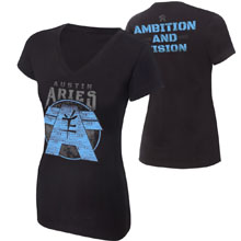 "Austin Aries ""Ambition and Vision"" Women's Authentic T-Shirt"