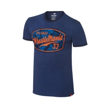 WrestleMania 33 Sportique Navy Ringer T-Shirt