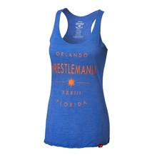 WrestleMania 33 Sportiqe Women's Royal Blue Tank Top