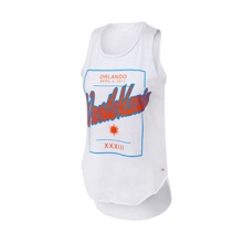 WrestleMania 33 Sportiqe Women's White Vintage Tank Top