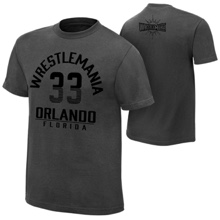 "WrestleMania 33 ""The Showcase"" Charcoal T-Shirt"