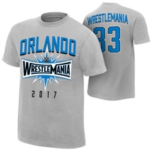 "WrestleMania 33 ""Orlando"" Sport Silver Youth T-Shirt"
