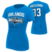 "WrestleMania 33 ""Orlando"" Blue Women's T-Shirt"