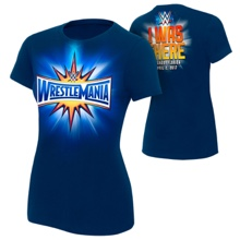 "WrestleMania 33 ""I Was There"" Blue Women's T-Shirt"