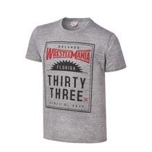 WrestleMania 33 Junk Food Steel Grey T-Shirt