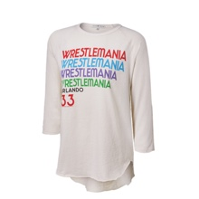 WrestleMania 33 Junk Food Ivory Women's Long Sleeve T-Shirt