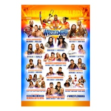 WrestleMania 33 Fight Card Poster