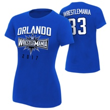 WrestleMania 33 Sports Royal Blue Women's T-Shirt