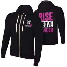 WWE Rise Above Cancer Unisex Lightweight Full-Zip Hoodie Sweatshirt