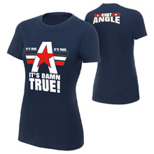 "Kurt Angle ""It's Damn True"" Women's Authentic T-Shirt"