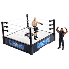 WrestleMania 31 Ring Playset with Brock Lesnar and Roman Reigns Action Figures