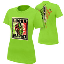 "Lucha Dragons ""Lucha! Lucha!"" Women's Authentic T-Shirt"
