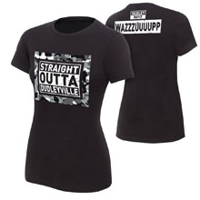 "The Dudley Boyz ""Straight out of Dudleyville"" Women's Authentic T-Shirt"